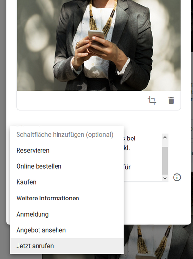 Call-to-Action-Button in Google MyBusiness Post hinzufügen