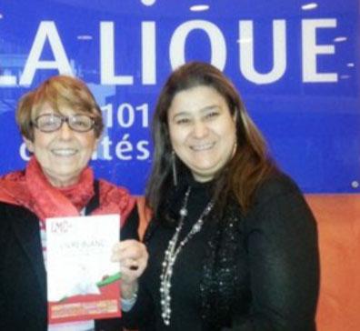 Stéphane Daban Professeur Jacqueline Godet Ligue contre cancer et Mina Daban Présidente LMC France leucémie myéloide chronique livre blanc etats generaux