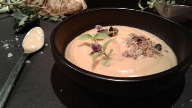 Mousseline de céleri rave au lait de soja