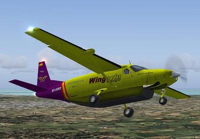 Nuestro primer avión, la C-208 matriculada EC-KWS