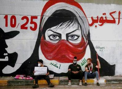 Graffiti mod Iraks korrupte regering