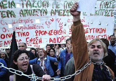 Vedvarende protester mod EU-institutionernes sparepolitik