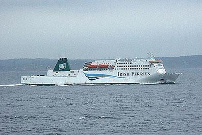 Isle of Innisfree at sea.