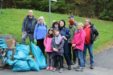 Müllsammeln in Cleeberg