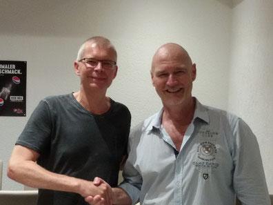 Turniersieger Andreas Franken (rechts) mit Finalist Richard Fiegen (links)