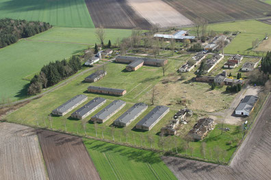 Gedenkstättengelände. Luftbildaufnahme: A. Beneke, 16.4.2015