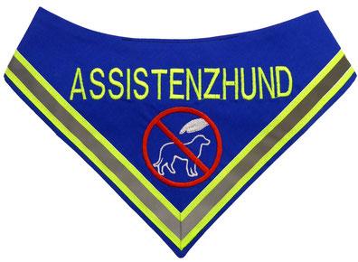 Azubi, Halstuch, Neongelb, Assistenzhund