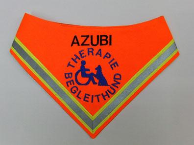 Azubi Therapiehund Begleithund Halstuch Hundehalstuch