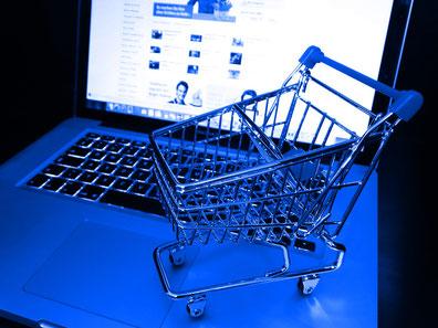 Einkaufswagen für Interneteinkauf
