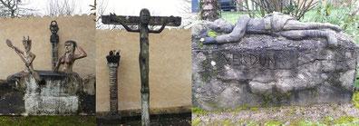 Le diable et la sirène / Le crucifix / Le gisant