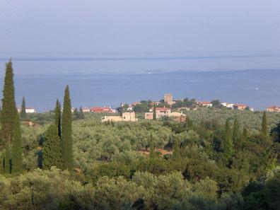 Blick von der Terrasse auf Ag. Dimitrios
