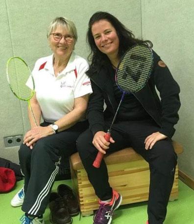 Erfolgreicher Wiedereinstieg von Tanja Korf (rechts) im Doppel mit Oldie Brigitte Prax