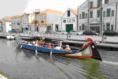 Bootsfahrt in Aveiro