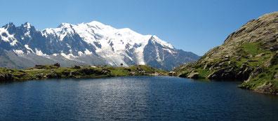 Le Mont-Blanc depuis le Lac Blanc