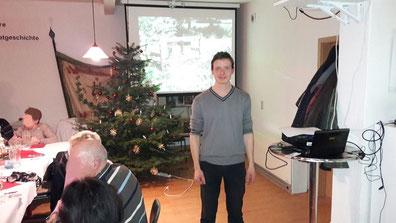 Friedrich Rosenthal von der Imkerei Ökohof Fläming hält seit einigen Jahren Vorträge für Interessierte.