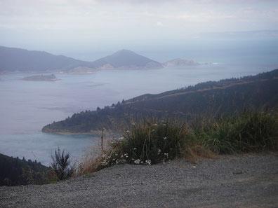 Entspannt am Meer entlang? Schotter und steile Anstiege machen das Radeln schwer!