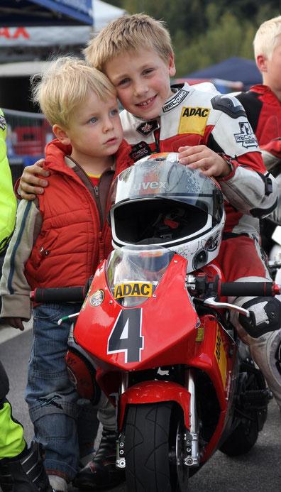 Marvin Siebdrath 2012 im Pocketbike Cup Sachsen Event