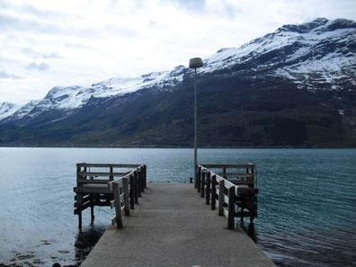 Anlegestelle im Eidfjord