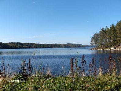 Der Stora Le incl. Dalslandkanal nur 100m vom Haus entfernt