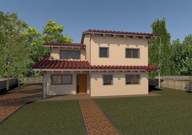 Villa tradizionale, 2 piani, 135mq