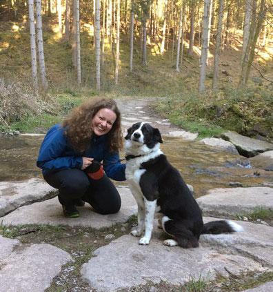 Michaela Dengler mit Hund