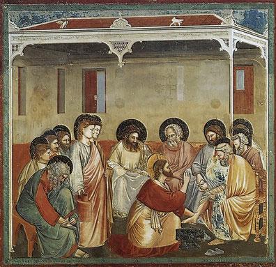 """Giotto, """"Lavanda dei piedi"""""""