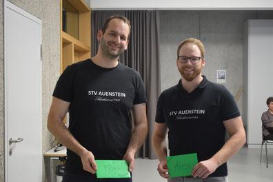 Die abtretenden Vorstandsmitglieder Roman Kirchhofer (links) und Alex Frieden.