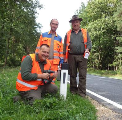 von links nach rechts: Robert Arnberger, STM Eggenburg Christian Meierhofer, Jagdleiter Karl Bock,  Foto: Reinhard Rotter