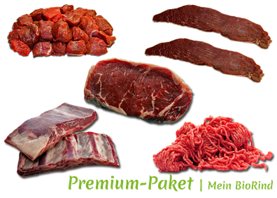 Premium-Paket Mein BioRind | Filet Gulasch Steak Rouladen