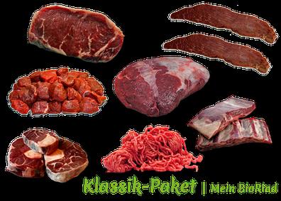 Klassik-Paket Mein BioRind | Beinscheibe Braten Gulasch Steak Rouladen Suppenfleisch