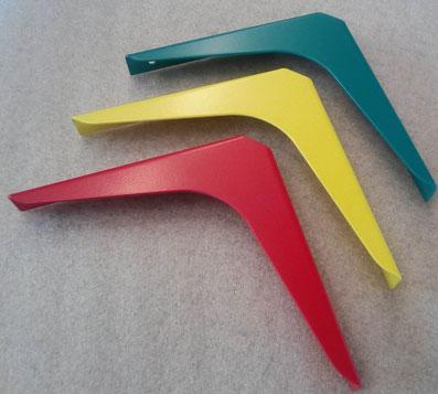 équerre console design colorée pour étagère