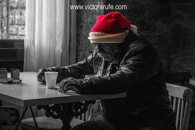 Navidad; pobreza; sin techo; fotografía