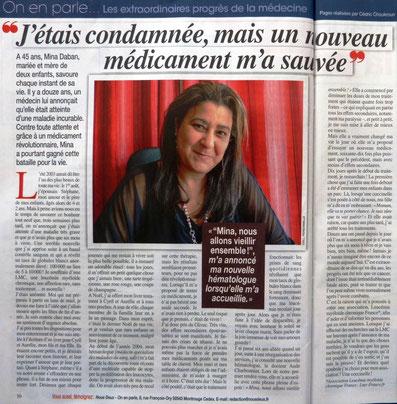 LMC France Magazine Maxi hebdomadaire leucemie myeloide chronique nouveau medicament espoir guerison itk glivec tasigna spycel bosulif iclusig
