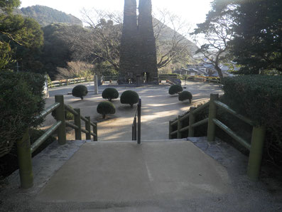 世界遺産 萩反射炉 階段・遊歩道