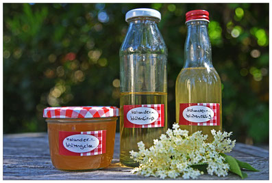 Holunderblüten-Produkte