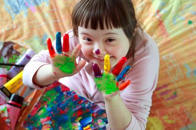 Inklusion Kindergarten Aachen Down-Syndrom Behinderung