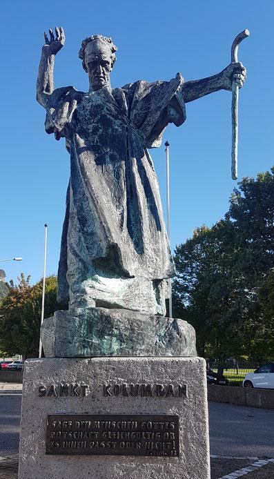 Kolumban-Statue in Bregenz