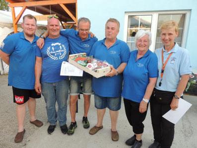 2. Platz: SSF Tulln mit Scheuer Patrick, Höfner Thomas, Wielander Roman, Scheuer Johannes und Jager Helga