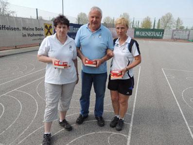 5. Platz: Ribisch Regina, Gaida Robert und Zdrahal Andrea (2 Stöcke)
