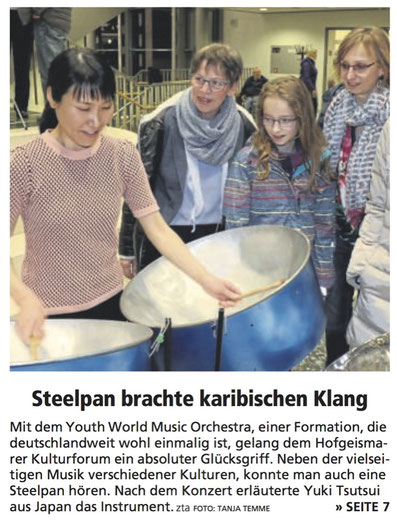 Youth World Music Orchestra 2019 Yuki Tsutsui erklärt die Steelpan