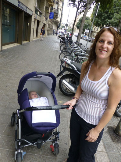 Barcelona Walking Travel Baby