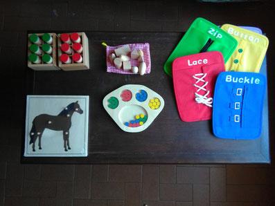 Photo de divers matériel Montessori