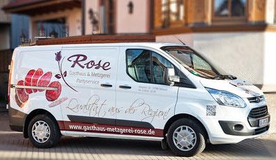 Firmenfahrzeug Rose