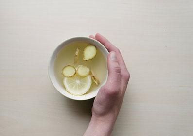 infographic hot lemon water