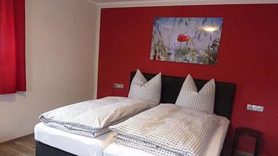 Gästehaus Erle Apartment Tegelberg Ansicht Schlafbereich