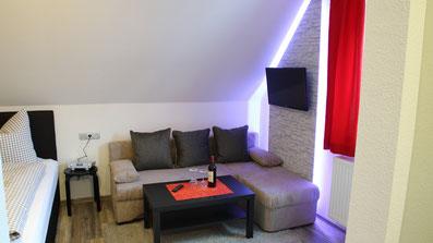 Gästehaus Erle Apartment Fellhorn Wohnbereich Ansicht