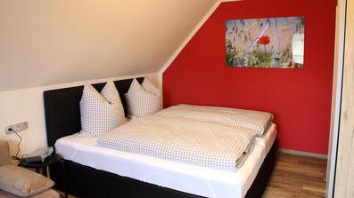 Gästehaus Erle Apartment Nebelhorn Schlafbereich Ansicht