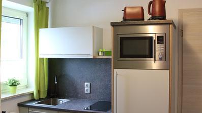 Gästehaus Erle Apartment Nebelhorn Küchen Ansicht