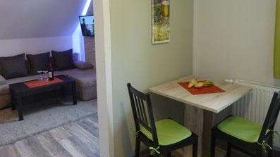 Gästehaus Erle Apartment Fellhorn Wohn- und Küchenbereich Ansicht
