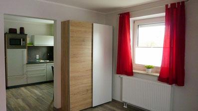 Gästehaus Erle Apartment Tegelberg Ansicht Wohnbereich / Küche